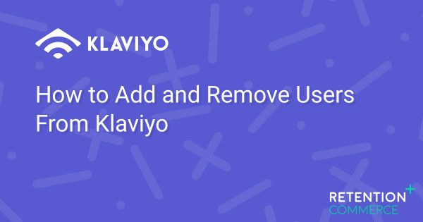How to Add and Remove Users From Klaviyo