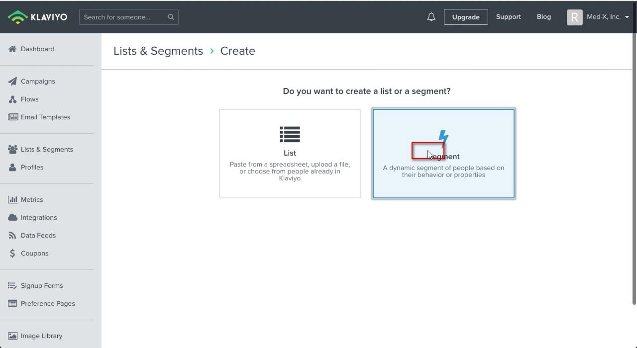 """Click on """"Segment"""""""
